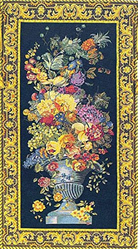 Corona Decor Urn with Fruit European Tapestry Wall Hanging