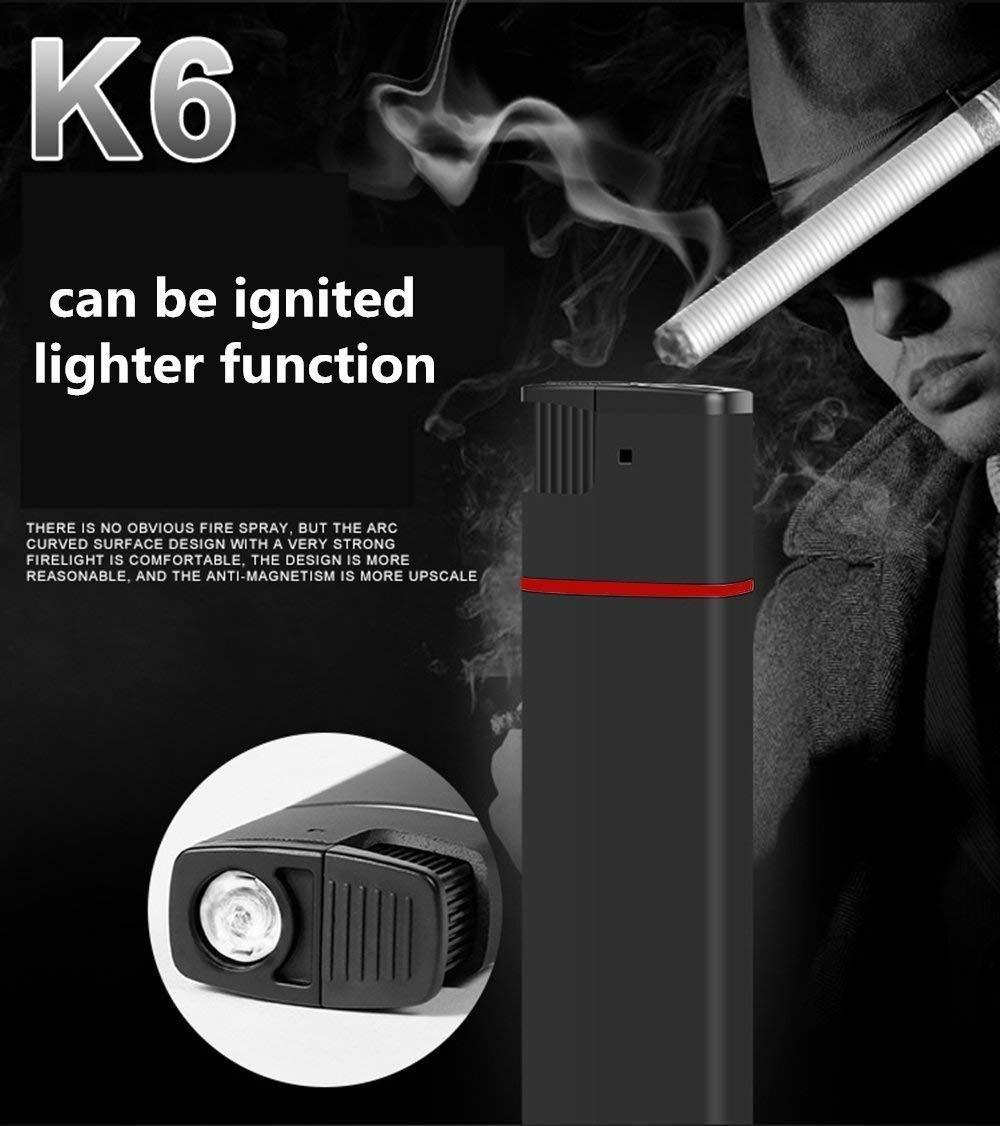 SD 32 GB Soporte Negro Color Negro y Azul. Encendedor funci/ón mechero Fuego Real Camara esp/ía Oculta HD 1080 USB Video Grabador Lente con Audio