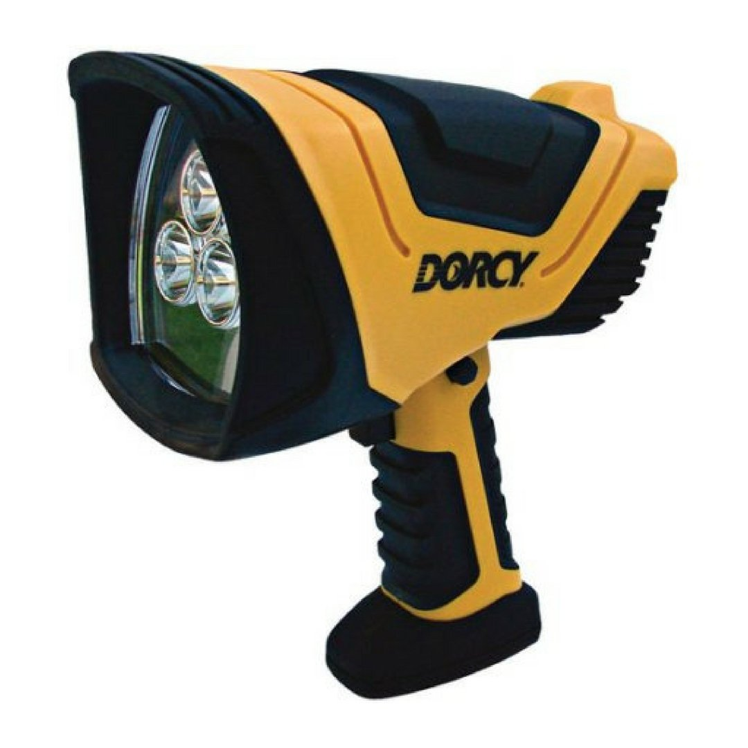 Dorcy 500-Lumen LED Rechargeable Pistol Grip Spotlight with AC and DC Charging Adapter by Dorcy