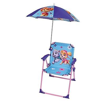 Fun House Patrouille Chaise avec Parasol Mixte Enfant, Vert