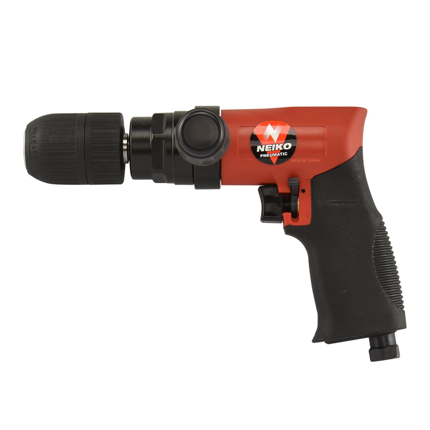 Neiko 30098A Composite Reversible 1/2'' Air Drill with Keyless Chuck and Handle, 90 PSI by Neiko