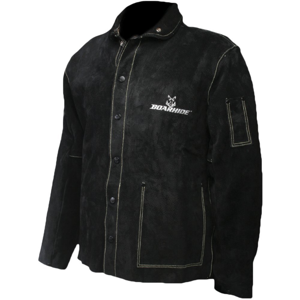 Caiman Black Boarhide - 30''Jacket, Welding-Apparel Medium