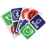 TOOGOO(R)10pcs intelligentes NFC tags autocollants pour Samsung Galaxy S5 S4 Note 3 Nokia Lumia 920 Sony Xperia Nexus 5
