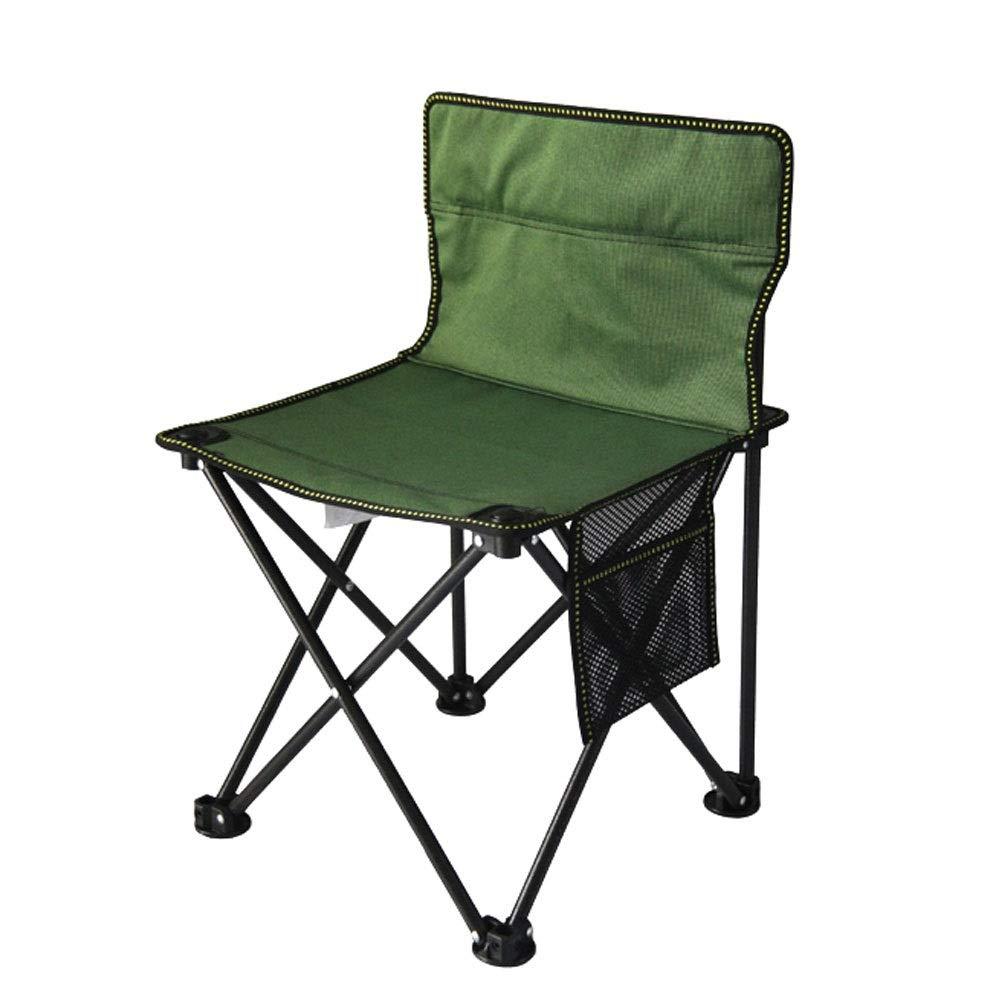 Vert X-grand LNYJ Chaise de pêche Pliante portable Multifonctions Tabouret en Alliage d'aluminium Randonnée en Plein air Camping Petite Chaise de pêche (Couleur   Marron, Taille   L)