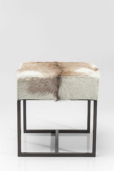 Kare 80205 Hocker Country Life Möbel, Stoff, weiß/beige/grau, 45 x ...