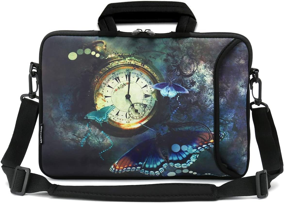 14-15.6 inch, Cute Cat RICHEN 14 15 15.4 15.6 inch Laptop shoulder bag Messenger Bag Case Notebook Handle Sleeve Neoprene Soft Carring Tablet Travel Case with Accessories pocket for ASUS//HP//DELL//Macbook//Acer and more