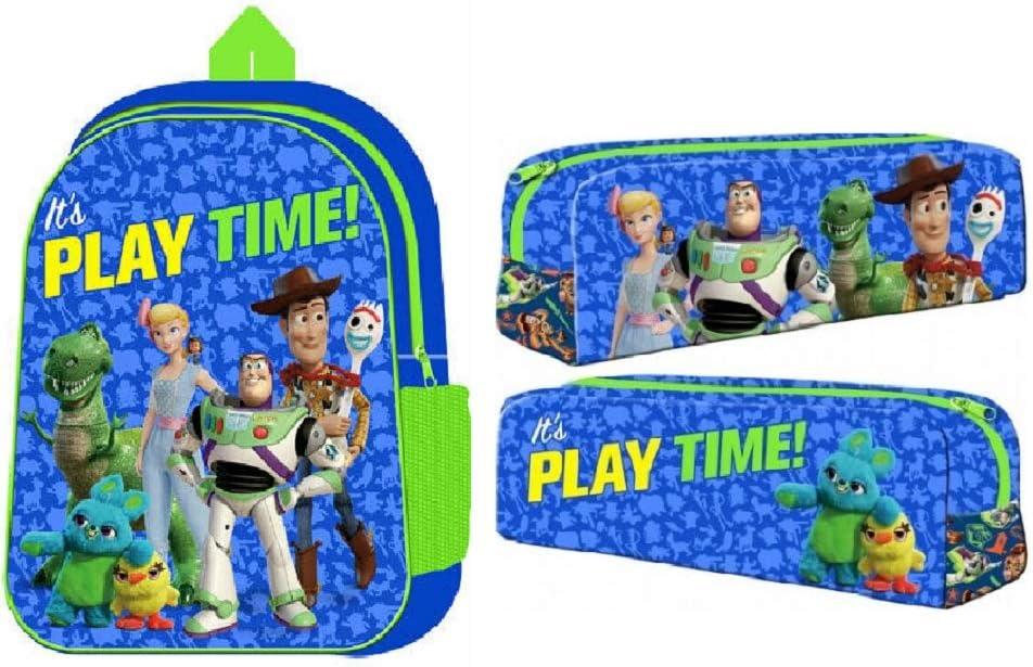 Disney Pixar Toy Story 4 Mochila y Estuche para l/ápices para ni/ños Escuela