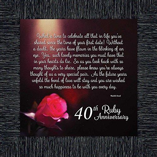 - Elegantly Yours Ruby Anniversary, Ruby Wedding Anniversary Picture Frame, 40th Wedding Anniversary, 10x10 8603 (10x10, Charcoal)