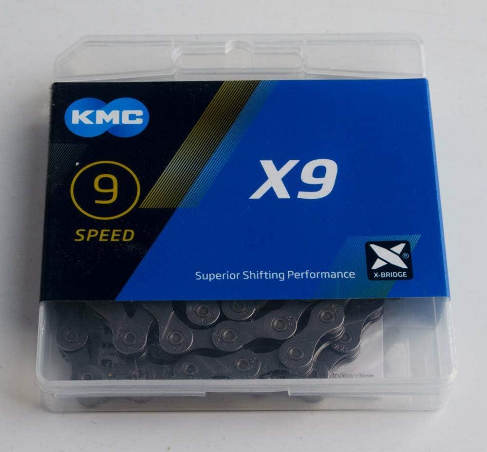 KMC X9 - Cadena para bicicleta con 9 velocidades, color gris ...