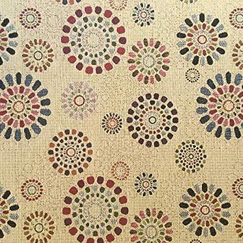 Tela por metros de tapicería - Jacquard Gobelino - Ancho 280 cm - Largo a elección de 50 en 50 cm   Mandalas