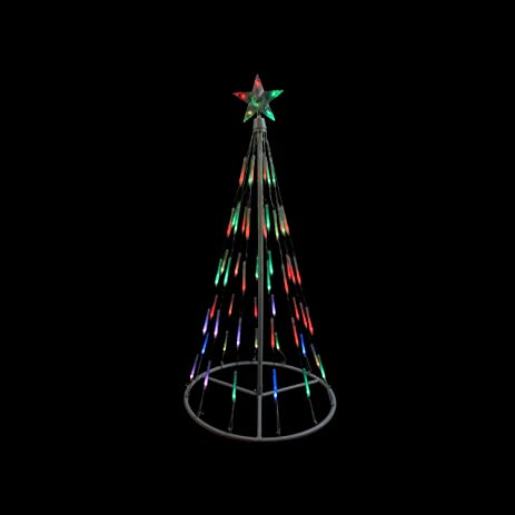Superb Northlight White Single Tier Bubble Cone Christmas Tree Lighted Yard Art  Decoration With Multicolored Lights,