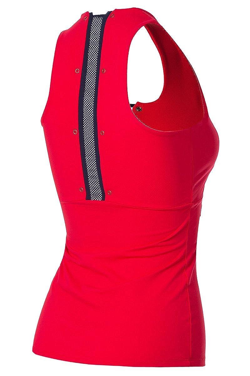 Naffta Tenis Padel - Camiseta Asas para Mujer, Color Rojo/Marino ...