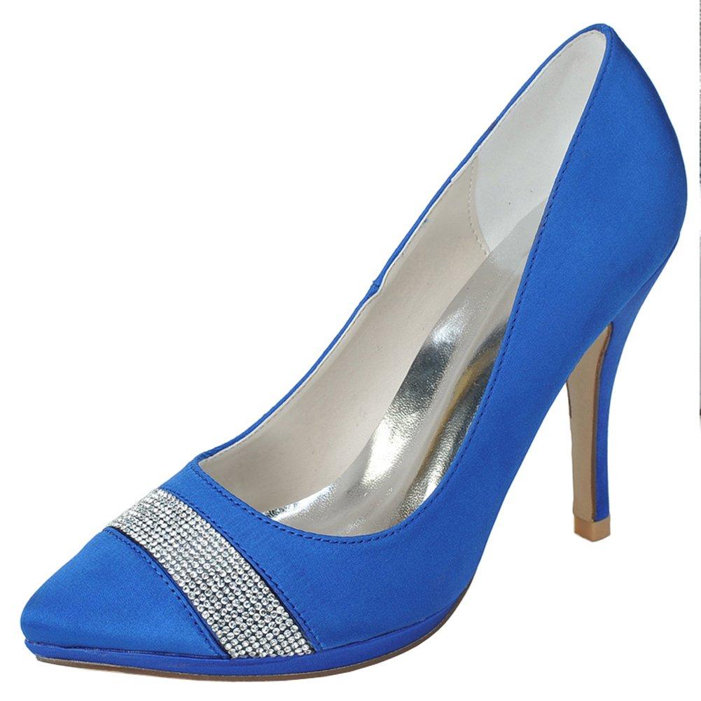 CFP , Damen Durchgängies Plateau Sandalen mit Keilabsatz, Blau - blau - Größe  37