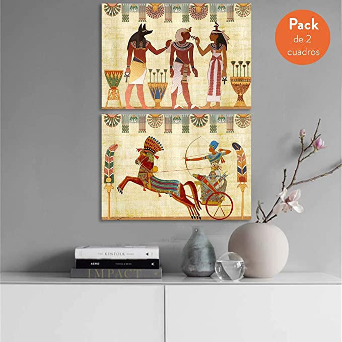 Tangerine Wall | Dos reproducciones de Antiguos papiros egipcios ...