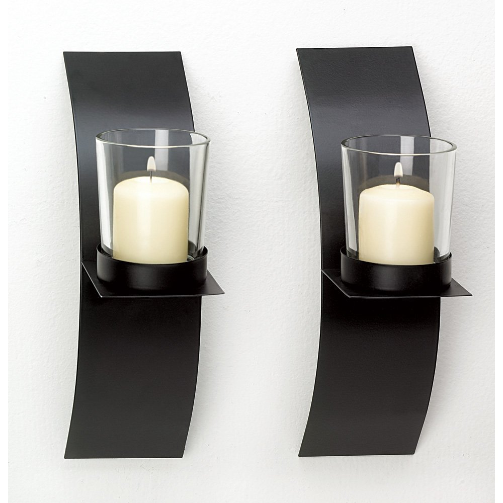 Wall Sconces Candle, Decorative Wall Sconce Candle Holder Modern Decor (Sold by Case, Pack of 24)
