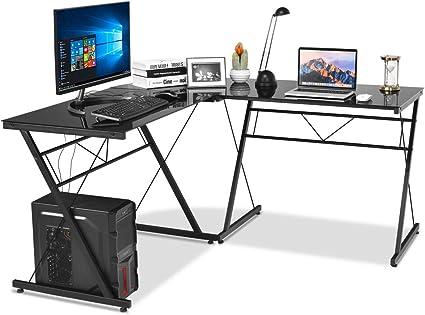 ufficio nero Tavolino moderno per computer portatile postazione di lavoro per piccoli spazi per casa scrivania