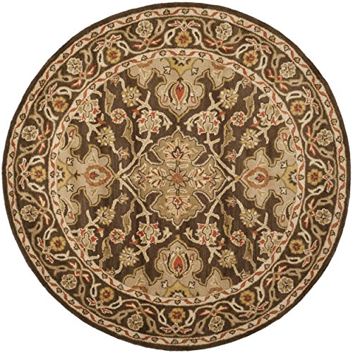 Brown Oriental Rug Round (Safavieh Classic Collection CL931A Handmade Traditional Oriental Brown Wool Round Area Rug (6' Diameter))