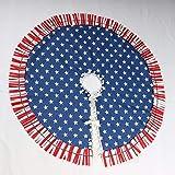 Patriotic Tree Skirt Christmas Tree Skirt US Flag