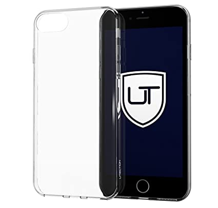 Funda transparente de silicona para iPhone 7 / 8 ** Carcasa ultra delgada y ligera ** Ajuste perfecto ** Skin case de TPU resistente UTECTION®