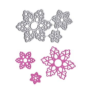 Kaiboo DIY Juego de Troqueles,Cutting Pad Replacements para Máquina Troqueladora y Estampadora,Die Planta,Scrapbooking Regalo(3pcs Flowers): Amazon.es: ...