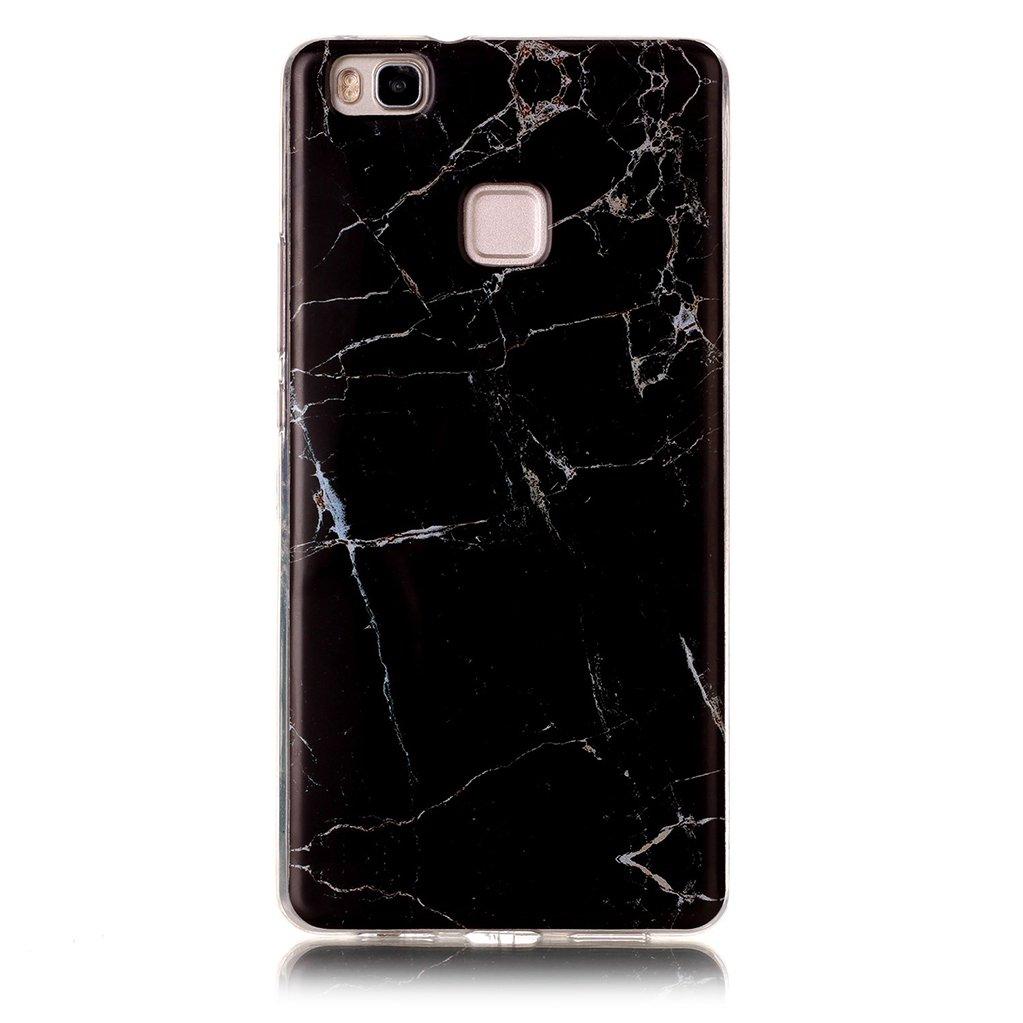 Funda Huawei P9 Lite M/ármol Rosa Verde Yunbaozi Dise/ño M/ármol Carcasa Suave Goma Silicona Soft Marble Case Textura de Piedra Natural Funda Liso Flexible Anti-Rasgu/ños Patr/ón Granito Funda para Huawei P9 Lite
