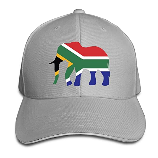 GENZHESI Elephant South Africa Flag Adjustable Baseball Hat Dad Hats  Trucker Hat Sandwich Visor Cap at Amazon Men s Clothing store  4d45a769ebc