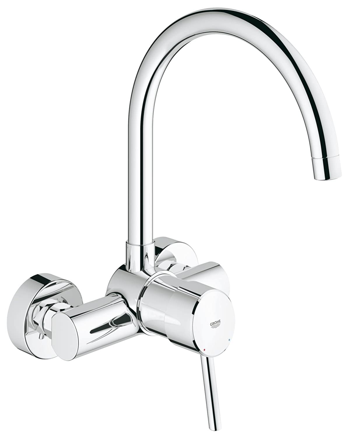 GROHE one hand-SPT-mixer Concetto 32667 wall mount chrome 32667001 ...
