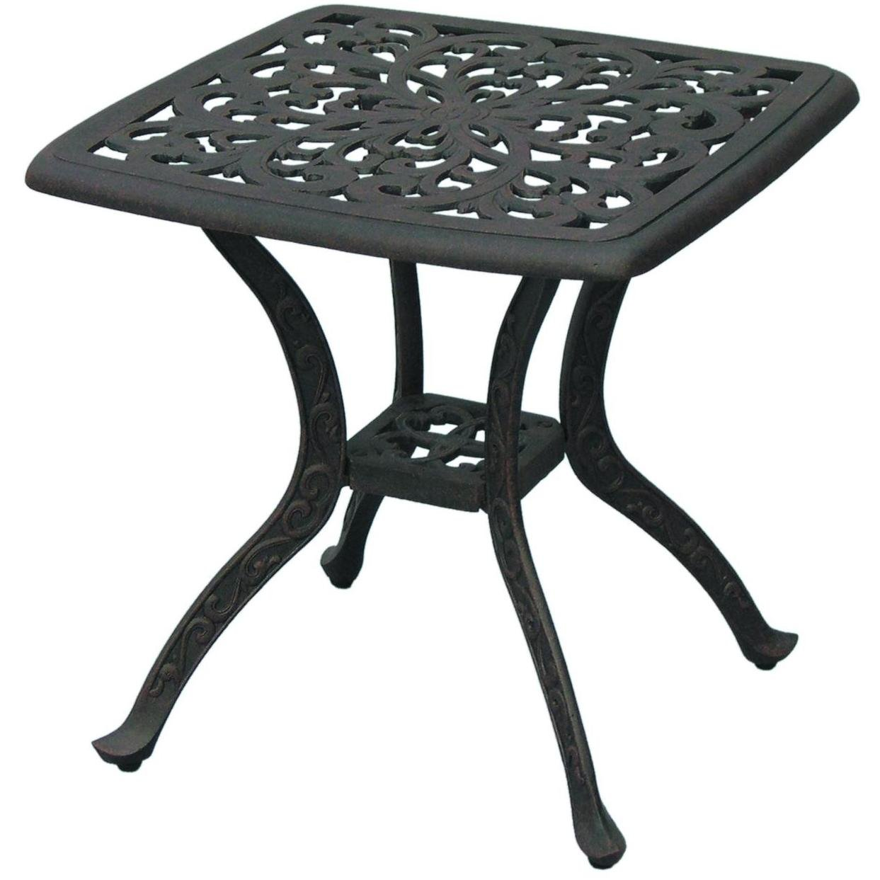 Darlee Series 80 Square Patio End Table in Antique Bronze