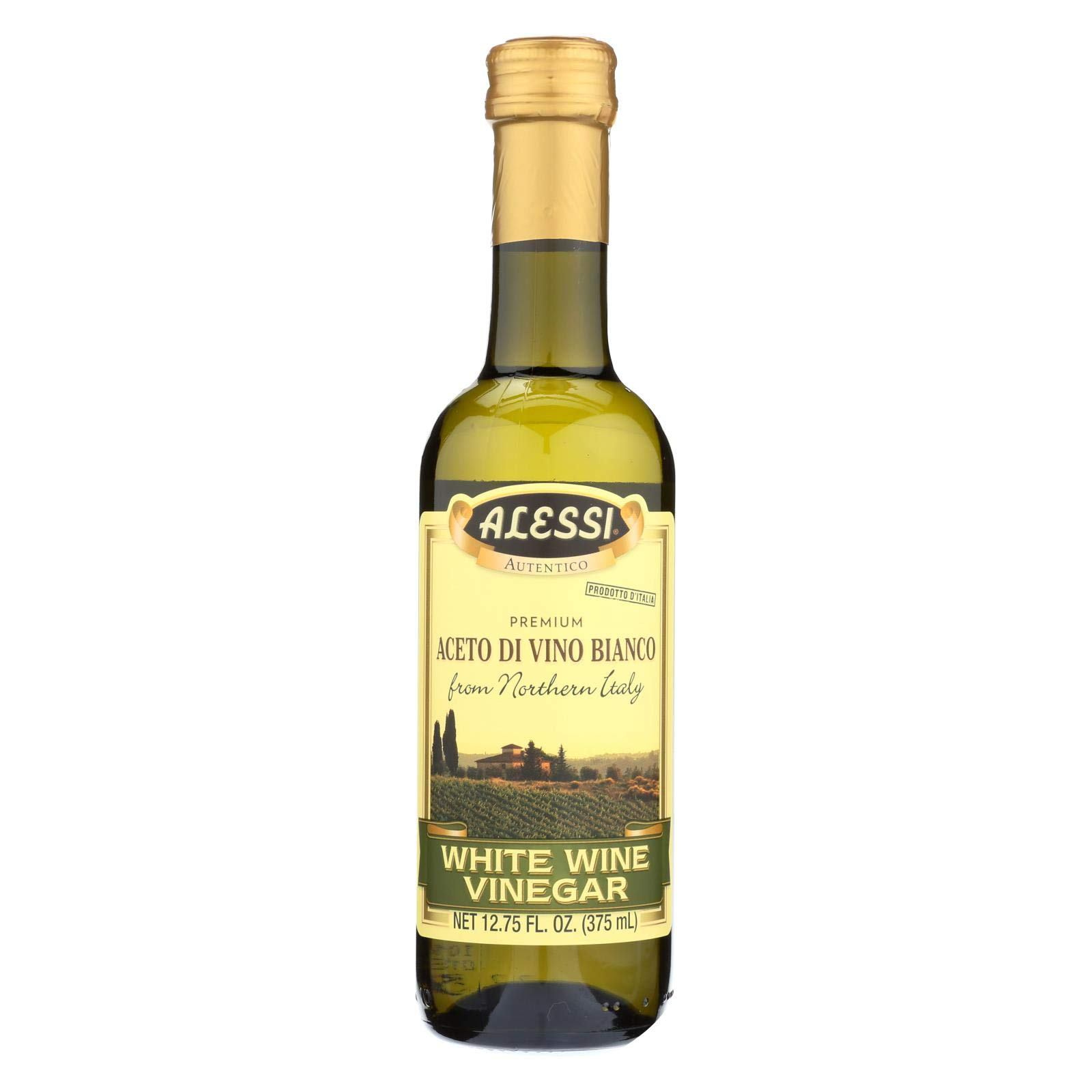 Alessi Vinegar, White Wine, 12.75-Ounce (Pack of 6)