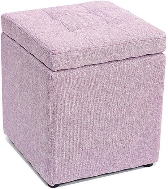 WGEMXC Step Stool,Kids Storage Ottoman Bench for Living Room Sofa &Amp; Bedroom, Wood for Entryway,Purple-1