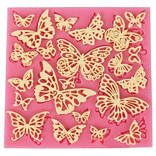 icone Mold Chocolate Candy Making Crafts Cake Fondant Decoration Mold (Butterfly Leaf Chocolate)
