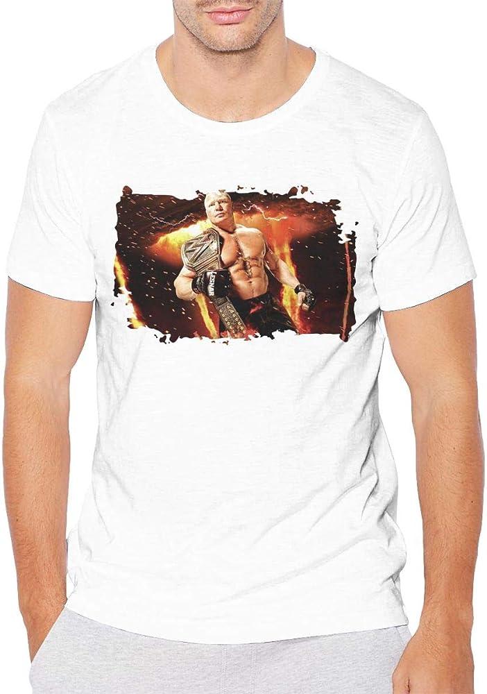 Nanavang Brock Lesnar Men S Short Sleeve Summer Fashion Fitness White Shirts