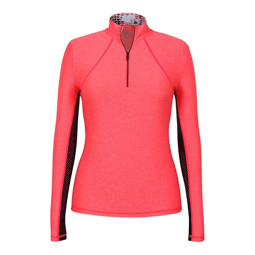 Tail-Women`s Chase Long Sleeve Tennis Top Laser Pink-(604084919083)