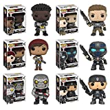Pop! Games: Gears of War Marcus Fenix, Armored JD Fenix, Clayton Carmine, Armored Kait Diaz, Armored Del Walker, Locust Drone! Vinyl Figures Set of 6