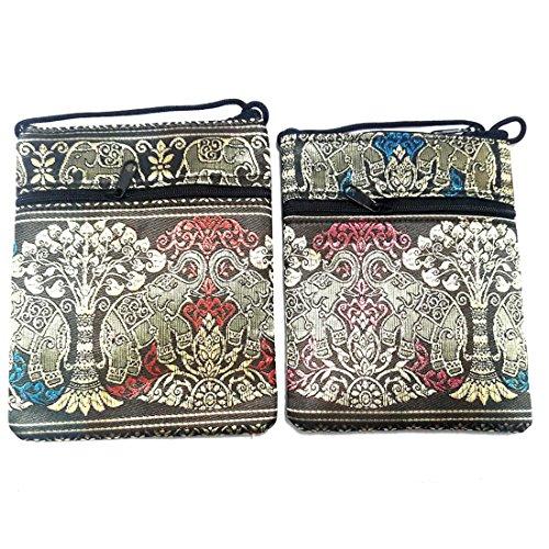 Twotone Hmong Elephant Bag Hippy Hill Thai EB2 Crossbody Tribe q8HxSwR1t