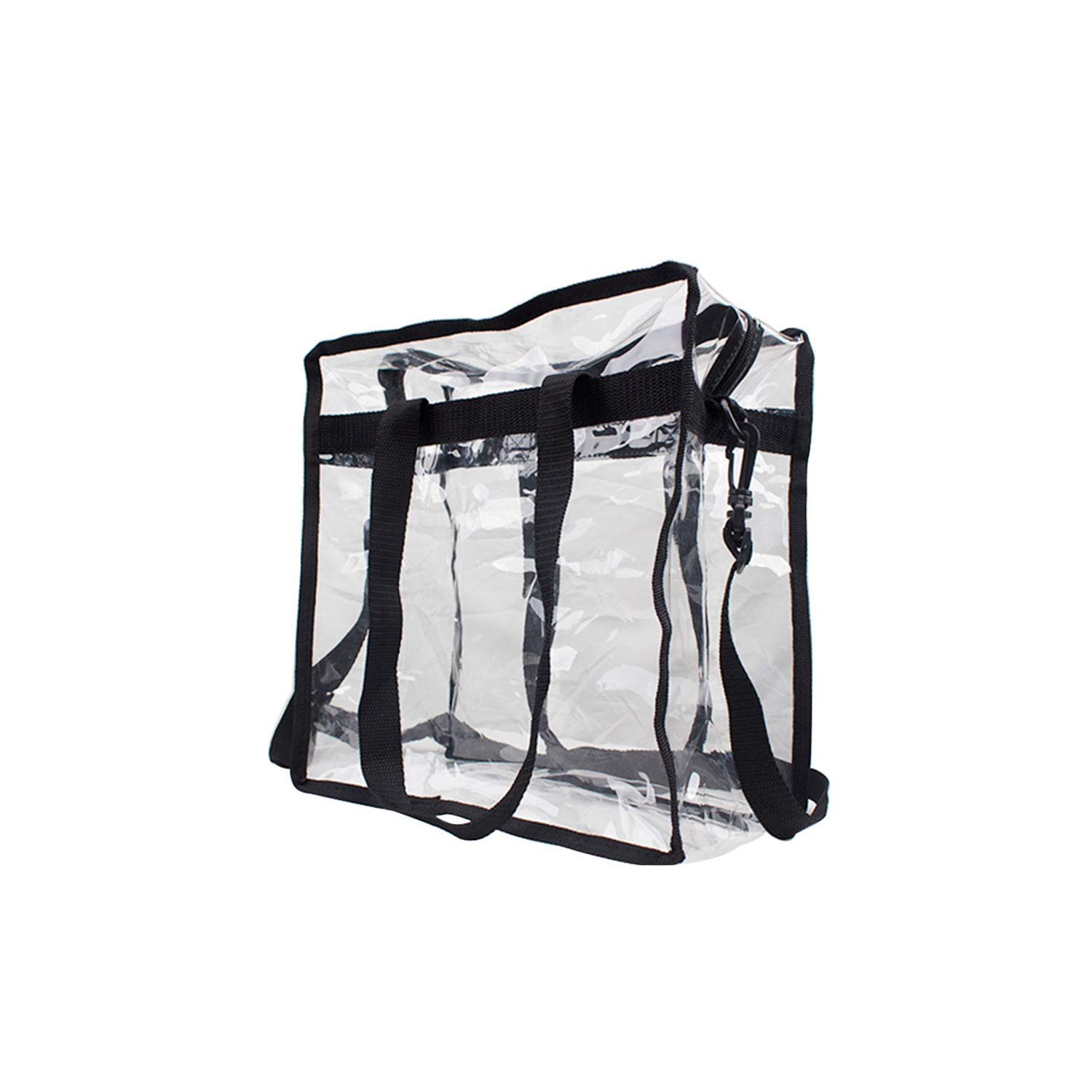 """Premium Clear Stadium Approved Bag - Clear Tote Bag with Cross Body Messenger Adjustable Shoulder Strap-12"""" X 12"""" X 6"""" by Zuess (Image #4)"""