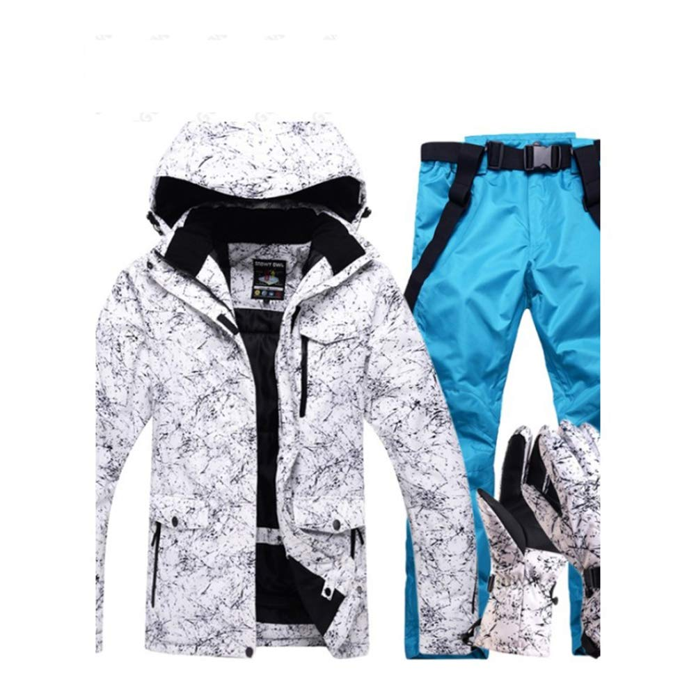Dcrywrx Men's Windproof Waterproof Ski Suit, Men's Ski Suit