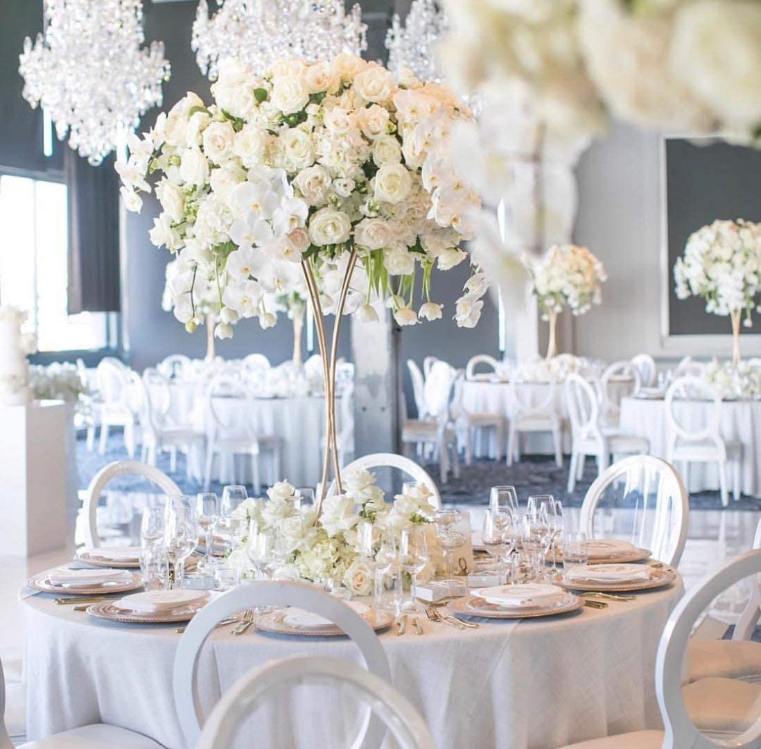 High Tall Flower Vase Holder Stand Wedding Props Centerpieces Decoration Display