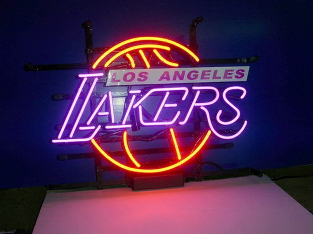 Beer Bar Pub Man Cave Business Glass Neon Lamp Light DB317 Various sizes Desung Brand New 24x20 LA Los Angeles Sport Teams Laker Logo Neon Sign