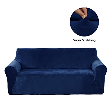 Superbe Deconovo Home Decorative Velvet Sofa Couch Slipcover Strapless Stylish  Stretch Couch Cover For 3 Cushion Sofa