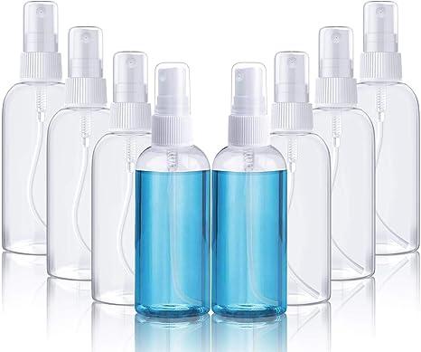 8 PCS *100ml Fenvella Botes Viaje Transparente Plástico Botella ...