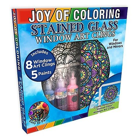 Zorbitz Joy of Coloring Stained Glass Window Art Kit - Stained Glass Art