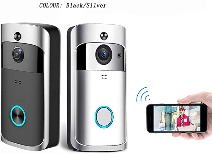 M3 Night Vision WIFI Smart Vid/éo Sonnette Vid/éo Sans Fil Portable Maison Bell Porte T/él/éphone Sans Fil Interphone Smart Home Pi/èces JBP-X