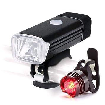 MPBYOU Set Luces de Bicicleta USB Recargable, Nuevos Delantera y ...