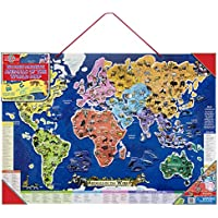 T.S. Shure Wooden Magnetic Animals of the World Map