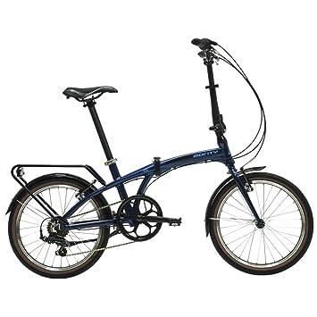 """Monty Folding - Bicicleta plegable, color azul oscuro, 20"""""""