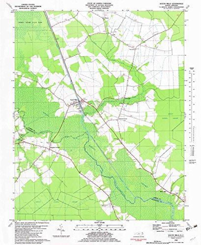 South Mills NC topo map, 1:24000 scale, 7.5 X 7.5 Minute, Historical, 1982, updated 1982, 26.7 x 21.8 IN - - South Park Sharon