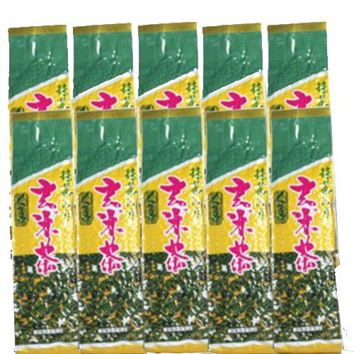 Japanese Tea Shop Yamaneen Brown Rice-Tea Tea-Leaf With Powdered Green Mattcha 200G x 10packs by Japanese Tea Shop Yamaneen