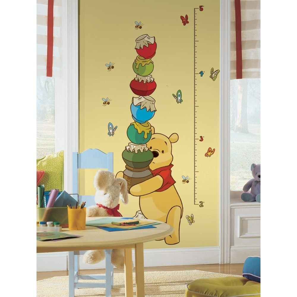 Amazon.com: New Winnie The Pooh Growth Chart Wall Decals Baby ...