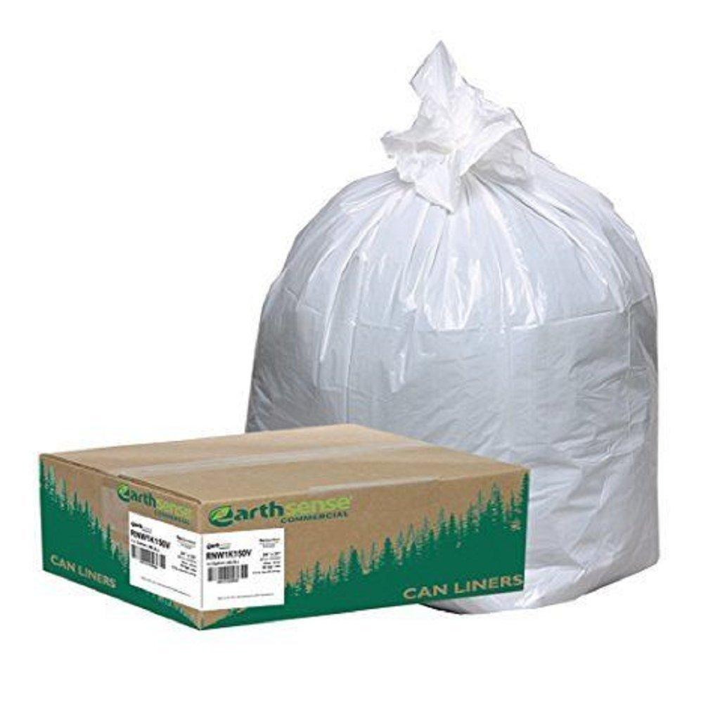 Earthsense Commercial RNW1K150V ゴミ袋 ゴミ箱ライナー 24×33 13ガロン 85ミル ホワイト 150枚入り B01J7HYFNY